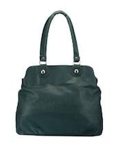 Solid Bottle Green Handbag - Bags Craze