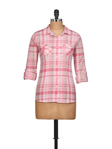 Pastel Pink Checked Shirt - Overdrive