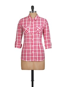 Bright Red Checked Shirt - Overdrive