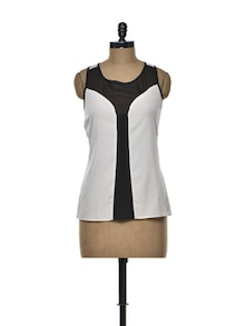Panelled Polyester Top - Besiva
