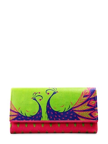Classic Peacock Everyday Clutch - Mad(e) In India