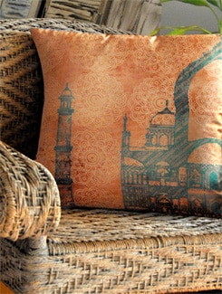 Neo Nawab Teal Cushion Cover - India Circus
