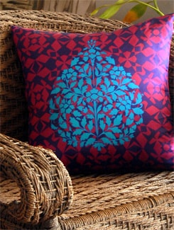 Neo Nawab Tree Top Cushion Cover - India Circus