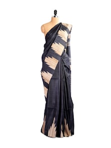 Exquisite Kosa Silk Black Saree - Kosabadi
