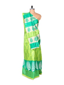 Gorgeous Green Art Silk Saree - Hypno Tex
