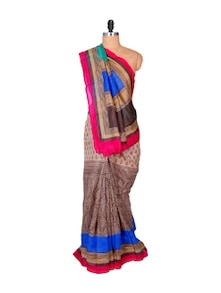 Sober Brown Art Silk Saree - Hypno Tex