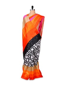 Beautiful Printed Art Silk Saree - Hypno Tex