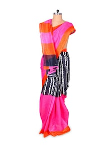 Quirky Pink Art Silk Saree - Hypno Tex