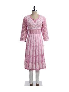 Pink And White Kurti - Ada