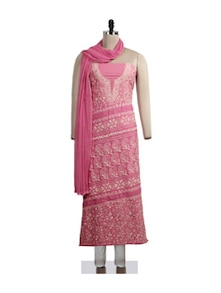 Beautifully Feminine Chikankari Suit Piece - Ada