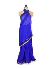 Royal Blue Georgette Saree - Khantil