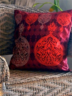Carved Circles Cushion Cover - India Circus