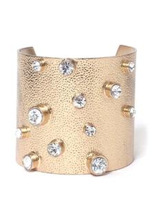 Golden Bracelet With Crystal Studs - Thegudlook