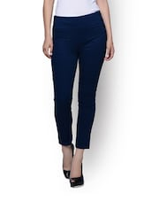 High Waist Trousers With Modish Side Buttons - Rider Republic