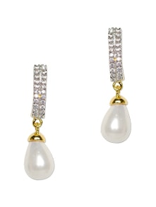 Studded Pearl Drop Earrings - YOUSHINE