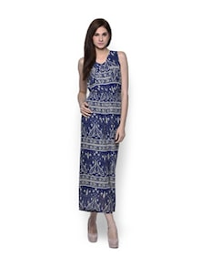 Blue And Beige Printed Jumpsuit - TREND SHOP