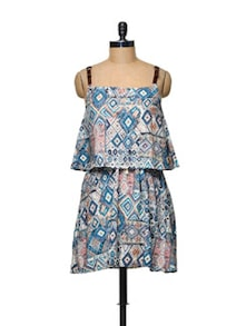 Abstract Print Cotton Dress - TREND SHOP