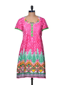 Multi Hued Cotton Kurta - Paislei