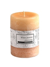 White Jasmine Scented Pillar Candle - Rosemoore