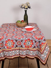 Multicolour Floral Print Table Cover - Ocean Collections