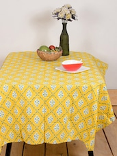 Yellow Leaf Print Table Cover - Ocean Collections