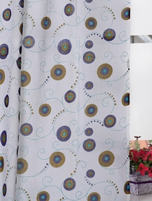 Hand Block Printed 2 PCs Window Curtain - Ocean Collections