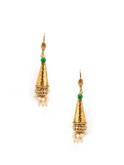 Cone and pearl cluster earrings - OARS