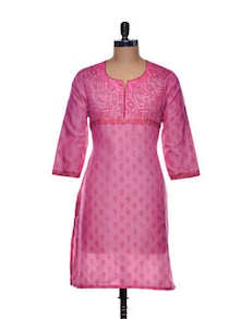 Leaf Print Cotton Kurta - Sohniye