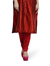 Maroon Cotton Churidar - Sohniye