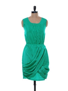 Sea Green Crepe Dress - Jiiah