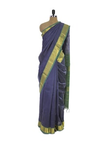 Splendid Cotton Silk Saree In Blue - Spatika Sarees