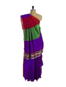 Purple Pure Kanchipuram Silk Saree - Spatika Sarees