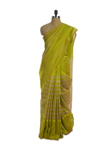 Chettinad Cotton Silk Green Saree - Spatika Sarees