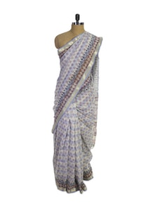 Floral Cotton Silk Saree - Spatika Sarees