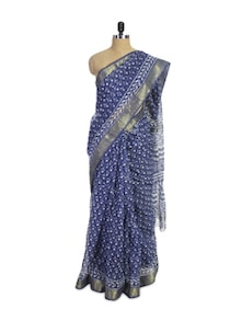 Printed Kota Cotton Silk Saree - Spatika Sarees