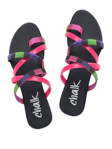 Pink And Black Sandals - Chalk Studio