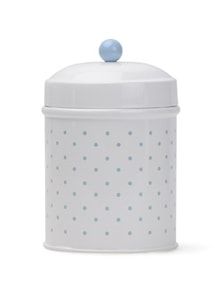 Blue And White Polka-Dot Storage Jar(Small) - Deziworkz