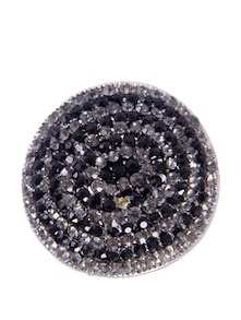 Crystal Studded Metallic Ring - CIRCUZZ