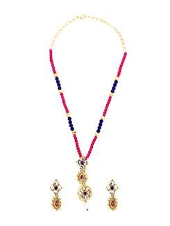 Majestic Multicolour Beads Necklace Set - KSHITIJ