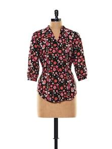 Floral Print Sheer Shirt - Thegudlook