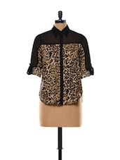 Tiger Print Shirt With Adjustable Sleeve Tabs - Concepts