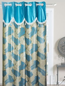 Blue Polyester Door Curtains - Dekor World