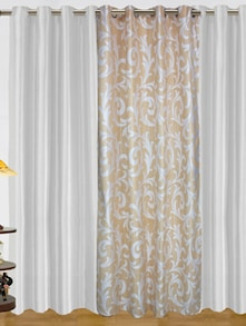 White Elegant Curtains - Dekor World