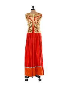 Gorgeous Orange And Gold Lehenga - Get Style At Home