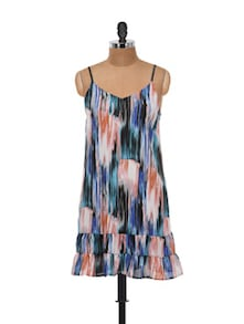 Multicoloured Cami Shift Dress - @ 499