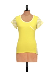Striped Yellow And White Top - QUEST