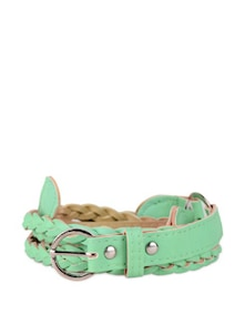 Sea-Green Braided Belt - Purplicious