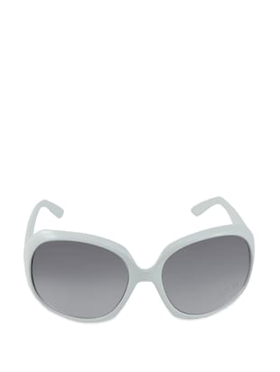 White and Grey Oversized Sunglasses