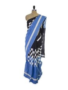 Check Style Cotton Saree - Spatika Sarees