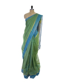 Green Andhra Cotton Silk Saree - Spatika Sarees